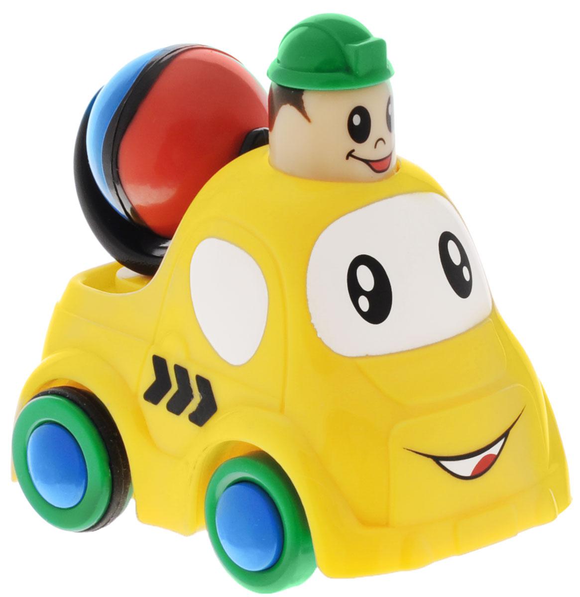 Simba Инерционная Мини-машинка цвет желтый4019516_желтыйМини-машинка Simba привлечет внимание вашего ребенка и надолго останется его любимой игрушкой. Плавные формы без острых углов, яркие цвета - все это выгодно выделяет эту игрушку из ряда подобных. Игрушка оснащена инерционным ходом. Если нажать на голову водителя, вдавив ее внутрь, а затем отпустить - и она быстро поедет вперед. Машинка развивает концентрацию внимания, координацию движений, мелкую моторику рук, цветовое восприятие и воображение. Малыш будет часами играть с этой машинкой, придумывая разные истории.