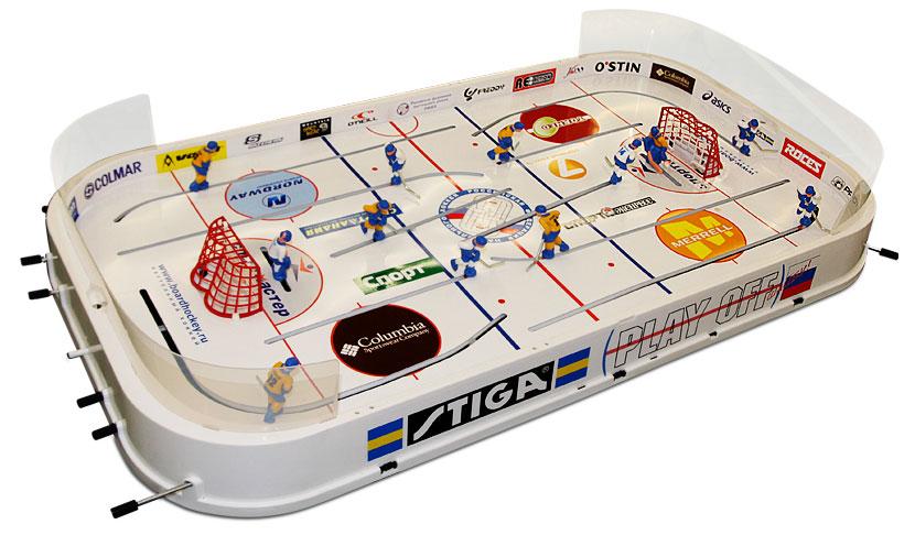 Настольная игра хоккей Stiga Play Off, размер: 90х510х975 ммУТ-00000218Настольный Хоккей Stiga Play Off – это поле размером с небольшой письменный стол, много активности и веселья!