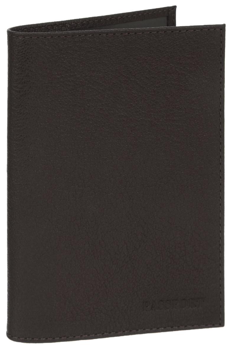 Обложка для паспорта мужская Fabula Largo, цвет: коричневый. O.1.LGO.1.LGОбложка для паспорта Fabula Largo выполнена из натуральной кожи с зернистой фактурой и оформлена тиснением в виде символики бренда. Изделие раскладывается пополам. Внутри размещены два накладных кармашка из прозрачного ПВХ. Изделие поставляется в фирменной упаковке. Стильная обложка для паспорта Fabula Largo станет отличным подарком для человека, ценящего качественные и практичные вещи.