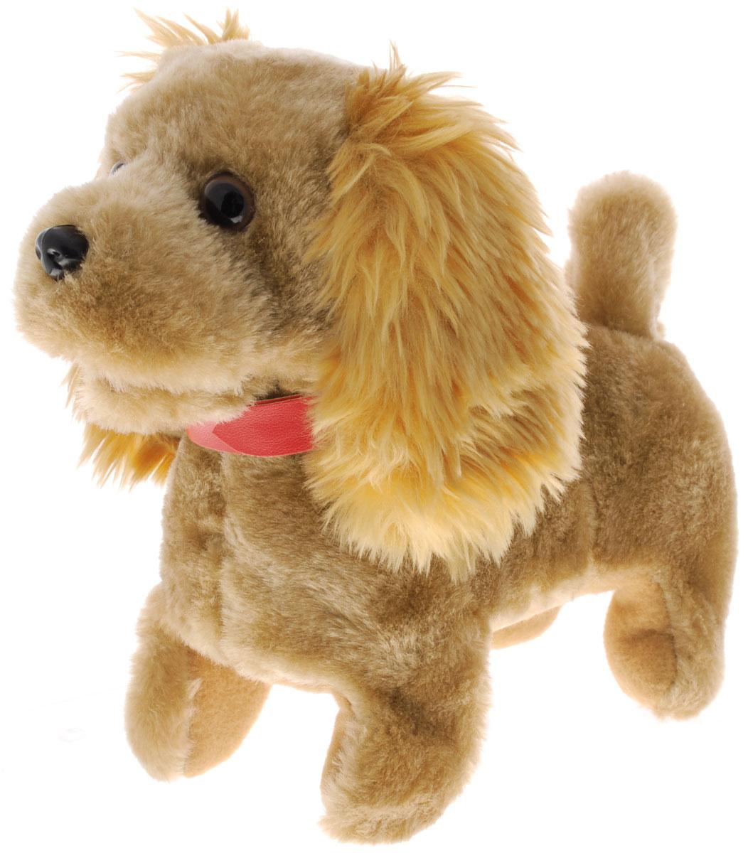 Sonata Style Мягкая игрушка Собачка цвет коричневый 22 смGT5928_коричневыйМягкая игрушка Sonata Style Собачка - самый лучший подарок для ребенка! Забавная игрушка сделана из приятного и очень мягкого материала, безвредного для малыша. Собачка умеет ходить вперед, останавливаться, шевелить хвостиком и лаять. Управляется собачка с помощью поводка, потянув за который, можно включить игрушку. Переключение режимов лая и ходьбы происходит последовательным потягиванием за поводок. Для работы игрушки необходимы 2 батарейки типа С (товар комплектуется демонстрационными).