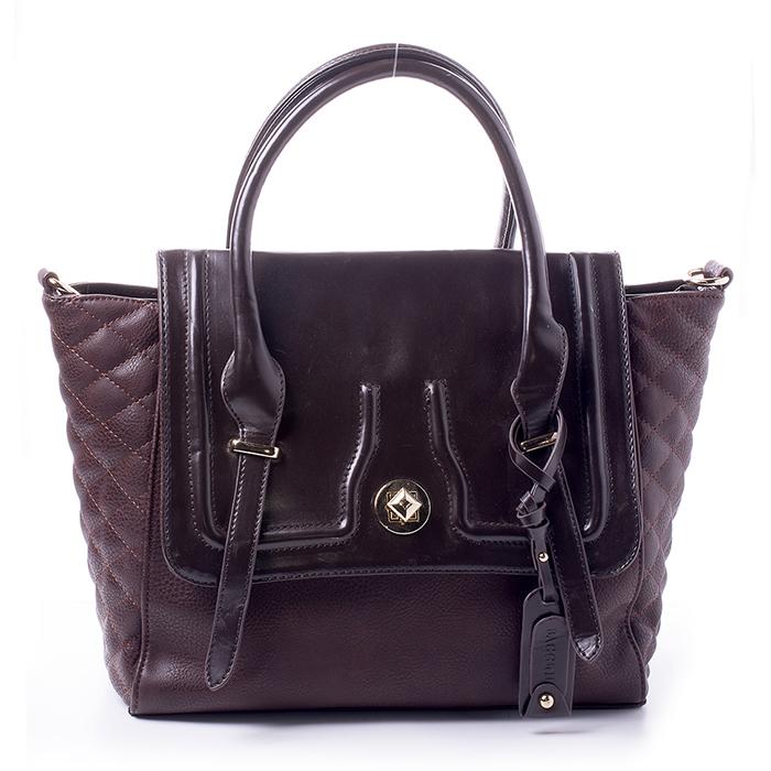 Сумка BAGGINI женская, цвет: коричневый, шоколадный. 29241/2329241/23Сумка жен. ,иск. кожа