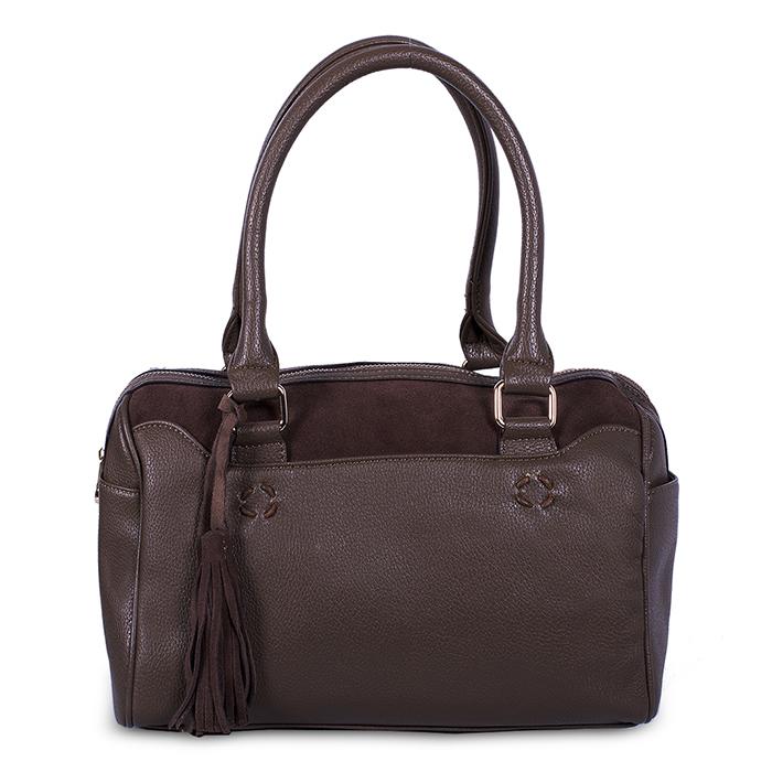 Сумка BAGGINI женская, цвет: коричневый, шоколадный. 29460/2329460/23Сумка жен. ,иск. кожа
