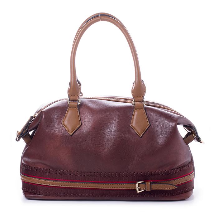 Сумка BAGGINI женская, цвет: коричневый, шоколадный. 29651/2329651/23Сумка жен. ,иск. кожа