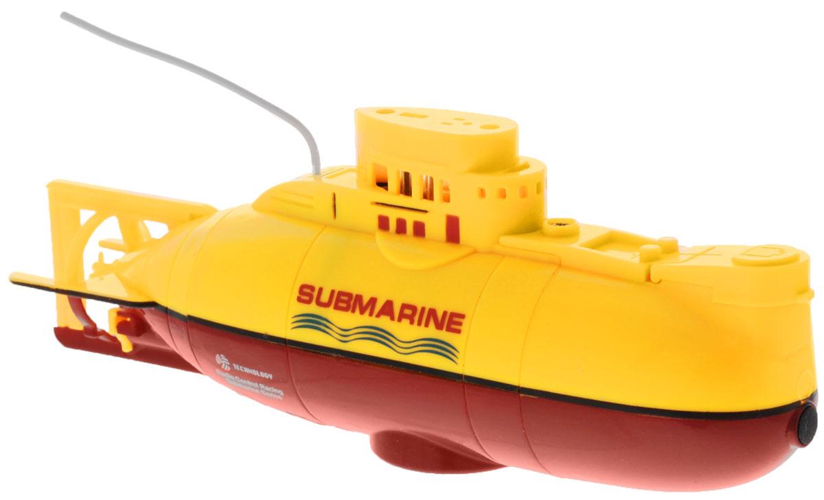 Bluesea Подводная лодка на радиоуправлении цвет желтый3311Эта маленькая подводная лодка доставит массу приятных впечатлений людям любого возраста. Модель проста в использовании. Ее управление осуществляется с помощью 3-х канального пульта. Радиус действия пульта управления 5 м. Подводная лодка оснащена настоящей балластной системой! Она идеально подходит для запуска в аквариуме, ванне или небольшом бассейне. Модель может плавать, маневрировать и разворачиваться на 360 градусов. У лодки имеются световые эффекты. Игрушка отличается ярким, оригинальным дизайном и удобным управлением. В комплекте с игрушкой идет стильный, удобный пульт управления с антенной. Для работы пульта необходимо 4 батарейки типа ААА (не входят в комплект).