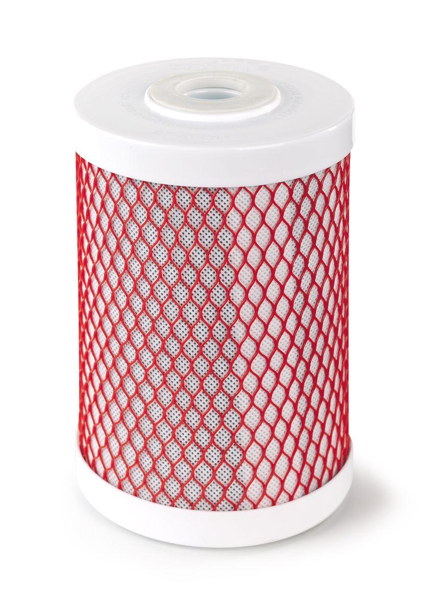 Картридж Арагон-3 Эко используется для системы Эко, Арагон+карбон-блок30060Картридж Арагон 3 Эко. Картридж Арагон 3 ЭКО – композитный картридж с тремя стадиями очистки: механическая, ионообменная и сорбционная. Состоит из предфильтра, материала Арагон и карбон-блока. В картридже Арагон 3 ЭКО применена особая уникальная технология Monocondensing для монодисперсного распределения пор полимера, что увеличивает гарантии задержания любых загрязнений во всем объеме картриджа и сохранение высоких характеристик очистки на всем протяжении ресурса. Обладает важными свойствами: Антисброс – позволяет необратимо задерживать все отфильтрованные примеси; Снижение жесткости (не рекомендуется использовать для очистки очень жесткой воды); Самоиндикация - картридж сам подскажет окончание ресурса (уменьшение напора в кране для чистой воды). Используется в системе Гейзер Эко. Ресурс картриджа 12000 литров Дополнительная информация о картридже: Картридж Арагон 3 Эко служит для очистки водопроводной воды от хлора, тяжёлых...