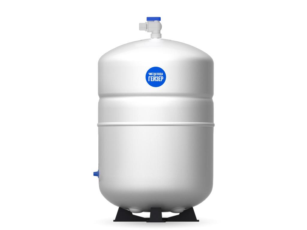 Накопительный бак для фильтра Гейзер Престиж, 12 л25380Накопительный бак используется в фильтрах обратного осмоса для создания резерва отфильтрованной чистой воды. Это необходимо, так как производительности системы в моменты пикового потребления может не хватат ь. Гидроаккумулятор из высококачественного металла для обратноосматических систем Гейзер Престиж и фильтра Гейзер Нанотек. Общий объем 12 литров. Полезный объем 7 литров.