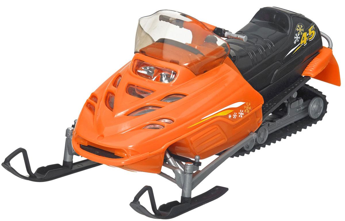 Dickie Toys Снегоход цвет оранжевый3315424_оранжевый, черныйЗамечательный снегоход Dickie понравится всем любителям необычного транспорта. Выполнен он из прочных и безопасных материалов. Капот снегохода открывается, мощные лыжи имеют поворотный механизм. С ним можно играть как на скользкой, так и на обычной поверхности. Игрушка выглядит очень реалистично и представляет собой настоящий снегоход в миниатюре. Имеется прозрачное ветровое стекло и украшения на бортах. Ваш ребенок будет часами играть с этой игрушкой, придумывая различные истории.