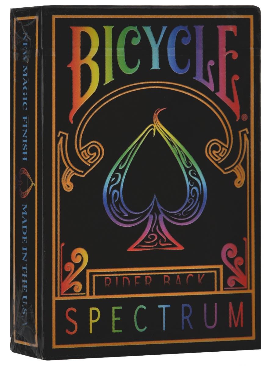 Игральные карты Bicycle Spectrum Deck, цвет: мультиколор, 56 штК-260Игральные карты Bicycle Spectrum Deck выполнены из высококачественного картона и отличаются эффектным дизайном. Перед вами первая в мире радужная колода. Что же это означает? В 2001 году Космо Солано выполнил трюк по изменению цвета колоды. И всегда было очень жаль, что можно изменить колоду, но не карту. Изменение колоды - хороший трюк, но его не назовешь настоящим волшебством. Стандартные 54 карты (включая Джокеров) составят красивый спектр цветов. Также в комплекте 2 специальные карты. Игральные карты Bicycle Spectrum Deck превосходно подойдут как для игры, так и для личной коллекции.