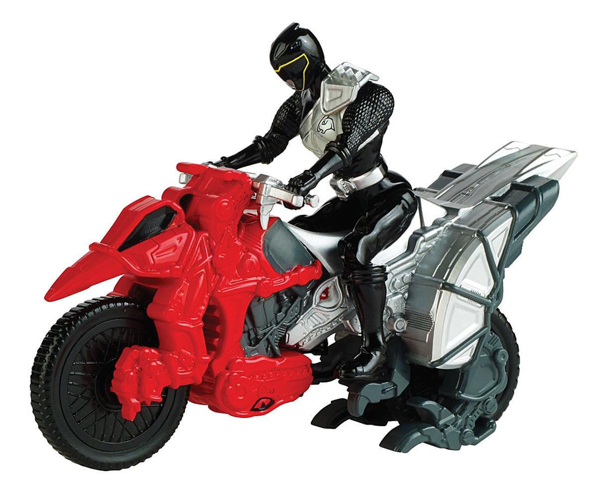 Power Rangers Игровой набор Могучие рейнджеры с мотоциклом цвет черный42070_красный/черныйИгровой набор Power Rangers Могучие рейнджеры состоит из фигурки рейнджера и мотоцикла. Фигурка, выполненная из пластика в виде рейнджера в шлеме и специальном костюме, станет любимой игрушкой вашего ребенка. Руки, ноги и голова фигурки подвижны. У мотоцикла крутятся колеса, и поворачивается передняя часть. Фигурку можно посадить на мотоцикл и катать. Игрушка выполнена по мотивам приключенческого фильма Power Rangers. Могучие рейнджеры - это новое поколение героев, которые унаследовали силу древних воинов и должны встать на защиту Земли. Эта игрушка обязательно понравится ребенку, он часами будет играть с ней, придумывая захватывающие истории для героев.