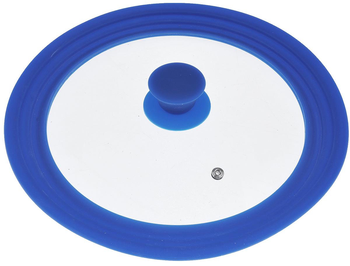 """Крышка универсальная """"Miolla"""", цвет: синий, для сковород и кастрюль диаметром 24, 26, 28 см"""