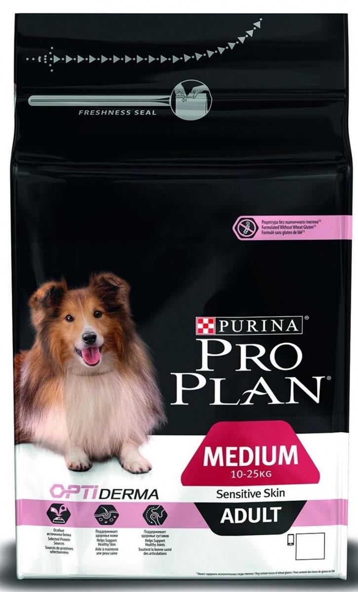 Корм сухой Pro Plan Optiderma для взрослых собак средних пород с чувствительной кожей, с лососем и рисом, 3 кг12272211Корм сухой Pro Plan Optiderma - полнорационный корм для взрослых собак средних пород (1-25 кг) с чувствительной кожей. Корм со специально разработанным комплексом Optiderma обеспечивает улучшенное питание, которое поддерживает чувствительную кожу щенков. Этот комплекс включает в себя специальную комбинацию питательных веществ, которые поддерживают здоровье кожи и красивую шерсть, а отобранные источники белка помогают сократить возможные кожные реакции, связанные с пищевой чувствительностью. Корм подходит для беременных и кормящих собак. Состав: лосось (14%), рис (14%), кукуруза, сухой белок лосося, кукурузный глютен, кукурузная мука, продукты переработки растительного сырья, животный жир, вкусоароматическая кормовая добавка, сухая мякоть свеклы, яичный порошок, минеральные вещества, рыбный жир, сушеный корень цикория, кукурузный крахмал, масло соевое, витамины, антиоксиданты. Добавленные вещества: МЕ/кг: витамин A: 32 000; витамин D3: 1040;...