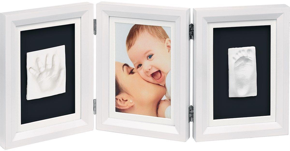 """Набор для изготовления слепка """"Baby Art Hand & Footprint"""", с тройной рамкой, цвет: белый"""