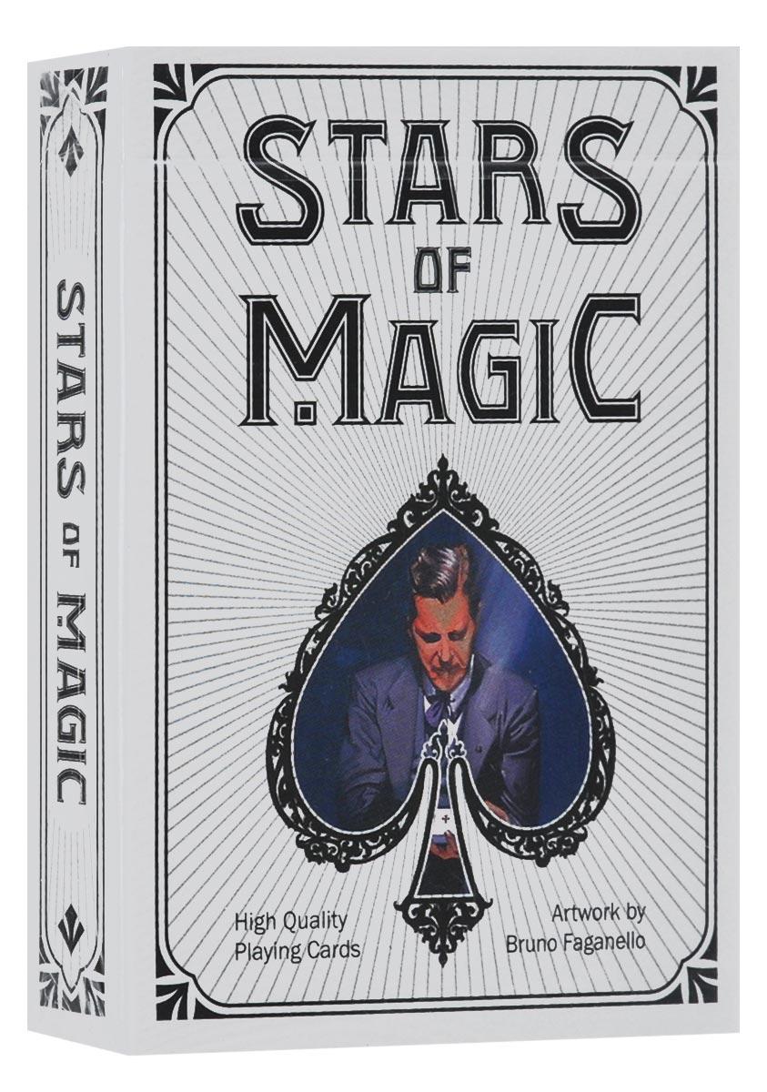 Игральные карты Bicycle Stars of Magic, цвет: белыйК-556В честь 26-ого чемпионата миру по фокусам, который проводился в Римини в 2015 году, выпущена колода карт Bicycle Stars of Magic. Карты выполнены из высококачественного картона и оформлены изображениями известнейших фокусников всех времен: Джузеппе Пинетти, Гарри Гудини, Гарри Келлар, Чунг Линг и других. Карты превосходно подойдут как для игры, так и для личной коллекции.