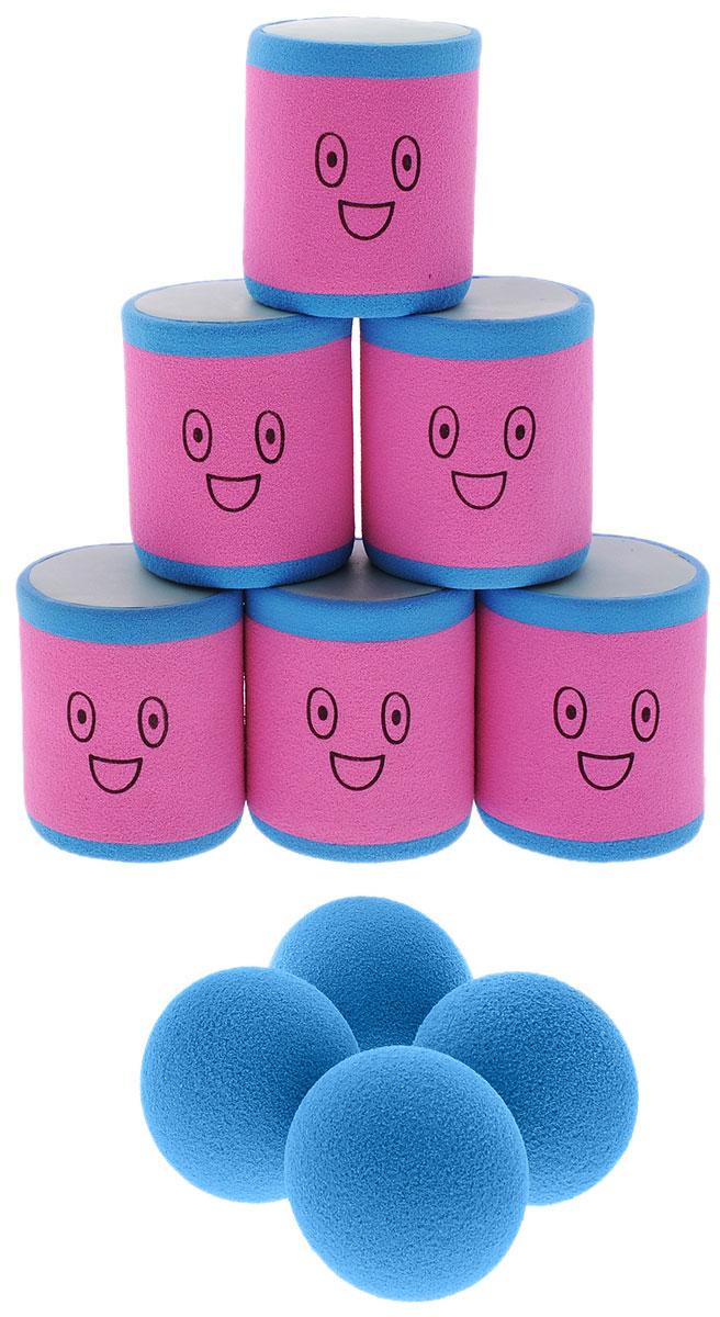 Safsof Игровой набор Городки цвет розовый голубойAT-02N(B)_розовый, голубойИгровой набор Safsof Городки, изготовленный из вспененной резины и полимера, состоит из шести ярких банок и четырех мячиков. Цель игры: выбить как можно больше фигур, построенных из трех и более городков (банок), мячами с определенного расстояния. Каждый участник сбивает фигуру с одного и того же расстояния, на каждую фигуру дается три броска. Если игроку удается сбить фигуру с первого броска, он получает 3 балла, со второго - 2 и с третьего - 1. Выигрывает тот участник, который набирает большее количество баллов. Благодаря яркой расцветке и легкому и безопасному материалу, с этим набором можно играть не только на улице, но и дома.