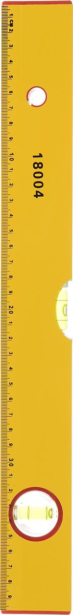 Уровень FIT, 2 глазка, 40 см18004Профессиональный строительный уровень FIT используется при необходимости контроля горизонтальных и вертикальных плоскостей. Усиленный, противоударный, алюминиевый корпус уровня облегчает с ним работу. Длина уровня: 40 см.
