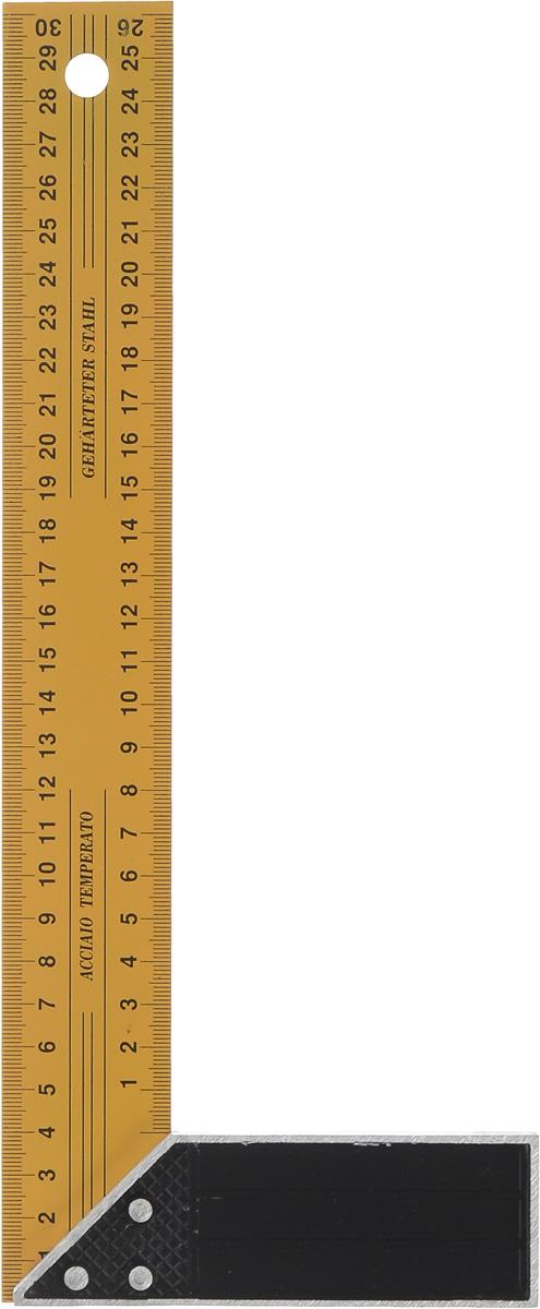 Угольник FIT, длина 30 см19430Угольник FIT изготовлен из закаленной стали, а ручка из легкого сплава. Угольник станет незаменимым предметом для слесарных работ. Длина линейки: 30 см. Ширина линейки: 4 см. Размер ручки: 12,5 см х 4 см х 1 см.