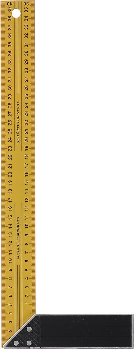 Угольник FIT, длина 40 см19440Угольник FIT изготовлен из закаленной стали, а ручка из легкого сплава. Угольник станет незаменимым предметом для слесарных работ. Длина линейки: 40 см. Ширина линейки: 4 см. Размер ручки: 15,5 см х 4 см х 1,3 см.