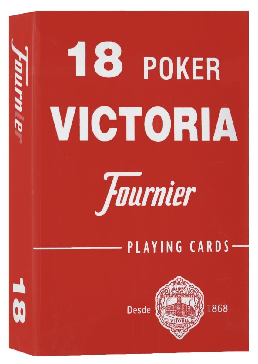 Карты игральные Fournier №18, стандартный индекс, цвет: красный, 55 штК-507_красныйКарты для покера Fournier №18 – это карты от известного испанского производителя, продукция которого завоевала мировую популярность. Карты изготовлены по современным покерным стандартам и технологиям, они отличаются высокими износостойкими характеристиками, а пластиковое покрытие не стирается и не осыпается, несмотря на интенсивное использование. Покерные карты Fournier №18 приятно держать в руках, они не слипаются, и их хорошо принимает шафл-машинка. Высокая четкость изображения рисунков и цифр на картах позволяет их хорошо видеть с любого места за столом. Карты имеют покерный размер и стандартный индекс. Такие карты отлично в одинаковой мере хорошо подойдут для игры как среди начинающих игроков, так и профессионалов покера. Колода содержит 55 карт.