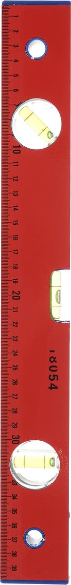 Уровень FIT, 3 глазка, 400 мм18054Уровень FIT с фрезерованной рабочей гранью, 3 глазками и линейкой 400 мм, используется при необходимости контроля горизонтальных и вертикальных плоскостей. Легкий, алюминиевый корпус уровня облегчает с ним работу. Длина уровня: 40 см.