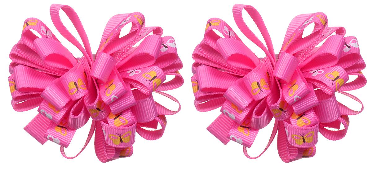 Резинка для волос Babys Joy, цвет: розовый, 2 шт. K 7K 7_малиновый/бабочкиРезинка для волос Babys Joy изготовлена из текстиля, дополнена милым бантиком, который оформлен изображениями бабочек. Резинка для волос Babys Joy надежно зафиксирует волосы и подчеркнет красоту прически вашей маленькой принцессы.