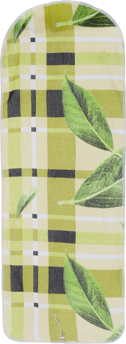 Чехол для гладильной доски Detalle, цвет: оливковый, 125 х 47 смЕ1301_оливковыйЧехол для гладильной доски Detalle, выполненный из хлопка с подкладкой из мягкого войлокообразного полотна (ПЭФ), предназначен для защиты или замены изношенного покрытия гладильной доски. Чехол снабжен стягивающим шнуром, при помощи которого вы легко отрегулируете оптимальное натяжение чехла и зафиксируете его на рабочей поверхности гладильной доски. Из войлокообразного полотна вы можете вырезать подкладку любого размера, подходящую именно для вашей доски. Этот качественный чехол обеспечит вам легкое глажение. Он предотвратит образование блеска и отпечатков металлической сетки гладильной доски на одежде. Войлокообразное полотно практично и долговечно в использовании. Размер чехла: 125 см x 47 см. Максимальный размер доски: 120 см х 42 см. Размер войлочного полотна: 130 см х 52 см.