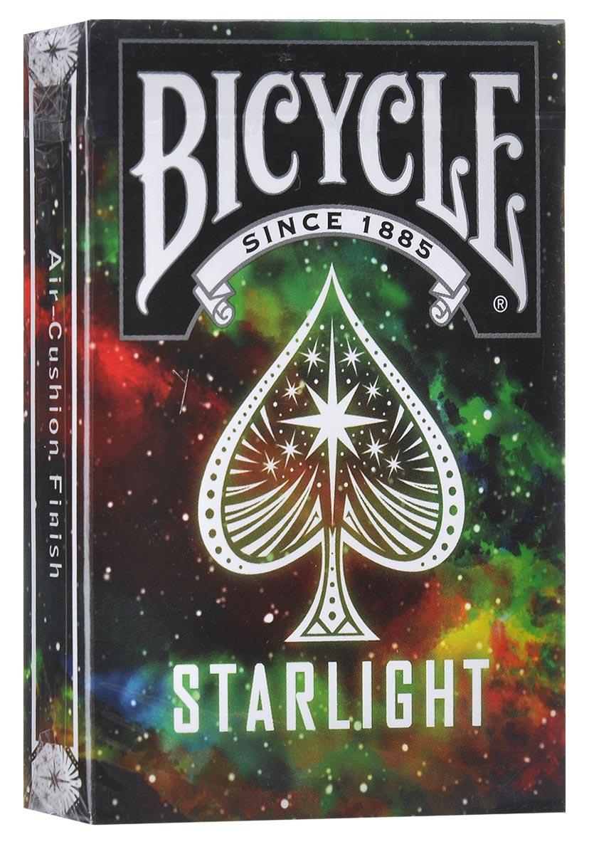 Коллекционные игральные карты Bicycle Starlight, цвет: черный, мультиколорК-434Коллекционные игральные карты Bicycle Starlight выполнены из высококачественного картона и отличаются эффектным дизайном. Они будто отражают пропасть светящихся звезд, которые будут держать вас в страхе и удивлении. Карты превосходно подойдут как для игры, так и для личной коллекции.