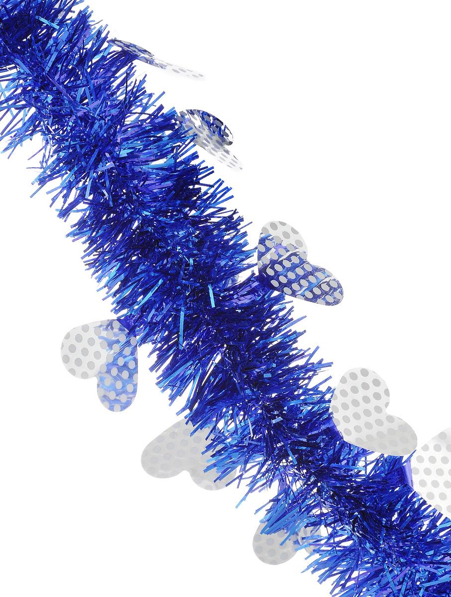 Мишура новогодняя Sima-land, цвет: синий, серебристый, диаметр 6 см, длина 2 м. 825976825976_синий, серебристыйНовогодняя мишура Sima-land, выполненная из фольги, поможет вам украсить свой дом к предстоящим праздникам. Новогодняя елка с таким украшением станет еще наряднее. Новогодней мишурой можно украсить все, что угодно - елку, квартиру, дачу, офис - как внутри, так и снаружи. Можно сложить новогодние поздравления, буквы и цифры, мишурой можно украсить и дополнить гирлянды, можно выделить дверные колонны, оплести дверные проемы.