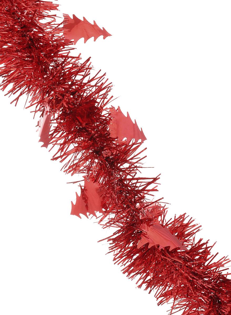 Мишура новогодняя Sima-land, цвет: красный, диаметр 5 см, длина 200 см. 702610702610_красныйМишура новогодняя Sima-land, выполненная из фольги, поможет вам украсить свой дом к предстоящим праздникам. Мишура армирована, то есть имеет проволоку внутри и способна сохранять приданную ей форму. Новогодняя елка с таким украшением станет еще наряднее. Новогодней мишурой можно украсить все, что угодно - елку, квартиру, дачу, офис - как внутри, так и снаружи. Можно сложить новогодние поздравления, буквы и цифры, мишурой можно украсить и дополнить гирлянды, можно выделить дверные колонны, оплести дверные проемы. Коллекция декоративных украшений из серии Зимнее волшебство принесет в ваш дом ни с чем несравнимое ощущение праздника! Создайте в своем доме атмосферу тепла, веселья и радости, украшая его всей семьей.