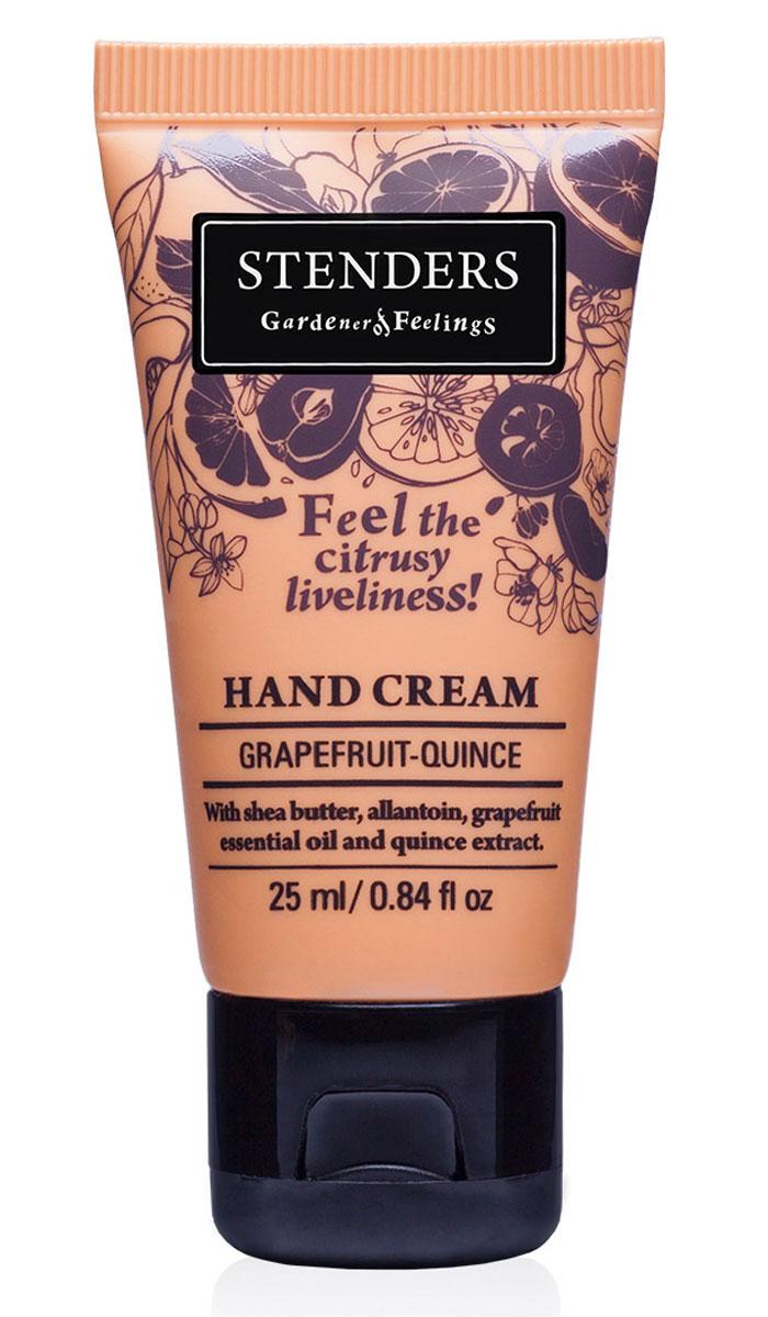 Stenders Крем для рук Грейпфрут-Цидония, 25 млCHGQЗащитный крем позаботится о коже ваших рук. Содержит натуральное твердое масло ши, которое обильно питает кожу, а аллантоин, цидониевый экстракт и грейпфрутовое эфирное масло делают руки бархатисто-нежными и гладкими. Крем быстро впитывается в кожу, придавая ей бодрящий цитрусовый аромат. Изо дня в день крем будет защищать ваши руки, делая кожу гладкой и бархатистой. Он сформирует защитный слой, удерживающий влагу, заботясь таким образом о красоте и эластичности кожи. В экстракте солнечной цидонии сокрыто множество минеральных веществ и витаминов, поэтому мы его добавляем и в свои продукты. Своим балансирующим эффектом он помогает жирной коже. Цидония взбодрит вас и улучшит настроение. Игристый, жизнерадостный грейпфрут служит великолепным источником эфирных масел. Грейпфрутовому эфирному маслу присуща солнечная и оживляющая сила, которая взбодрит как тело, так и дух. Кроме того, оно может помочь улучшить структуру вашей кожи.