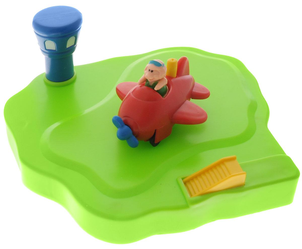 Жирафики Игрушка для ванной Аэродром цвет самолета красный681123_красный самолётИгрушка для ванной Жирафики Плавающий аэродром обязательно порадует вашего малыша и превратит купание в увлекательную игру. Игрушка ярких цветов выполнена из качественных материалов и абсолютно безопасна для малышей. Аэродром с маяком держится на воде и самолетик может легко на него приземлиться. Игрушка предназначена для сюжетно-ролевых игр, развития внимания, координации движений и логического мышления.
