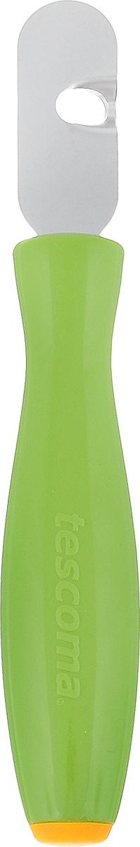 Приспособление для вырезания декоративных дорожек Tescoma Presto Carving422034Приспособление Tescoma Presto Carving предназначено для вырезания спиралей и украшения цедры лимонов, лаймов, апельсинов, грейпфрутов, огурцов, кабачков и других овощей и фруктов. Рабочая часть изделия выполнена из нержавеющей стали, ручка из прочного пластика. Длина приспособления: 15 см.