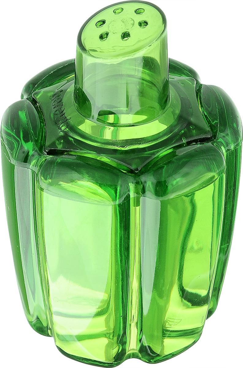 Банка для специй Herevin, цвет: зеленый, 80 мл161095-000_зеленыйБанка для специй Herevin выполнена из прозрачного стекла в виде болгарского перца и оснащена пластиковой цветной крышкой с отверстиями, благодаря которым, вы сможете приправить блюда, просто перевернув банку. Крышка легко откручивается, благодаря чему засыпать приправу внутрь очень просто. Такая баночка станет достойным дополнением к вашему кухонному инвентарю. Можно мыть в посудомоечной машине. Объем: 80 мл. Диаметр (по верхнему краю): 4 см. Высота банки (без учета крышки): 6,5 см.