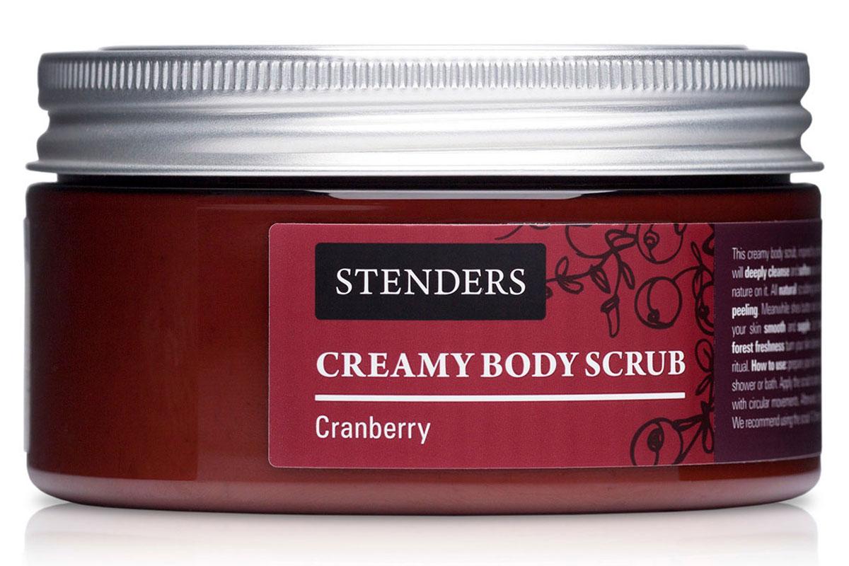 Stenders Скраб для тела кремовый Клюква, 200 гSBC02Созданный под вдохновением спа-процедур, этот кремообразный скраб глубоко очистит и смягчит кожу вашего тела, придавая ей свежий, природный аромат. Об эффективном пилинге позаботятся натуральные частички скраба. А твердое масло ши и клюквенный экстракт сделают кожу мягкой и гладкой. Ощутите, как аромат, насыщенный свежестью леса, превратит процесс очищения кожи в насыщенный силой ритуал красоты. Клюква – доказательство того, насколько щедрый и красивый урожай может давать природа даже в суровых северных регионах. Уникальный состав этой растущей на болотах ягоды придает ее экстракту очень ценные свойства: он богат витамином С и антиоксидантами и стимулирует естественные процессы обновления кожи.