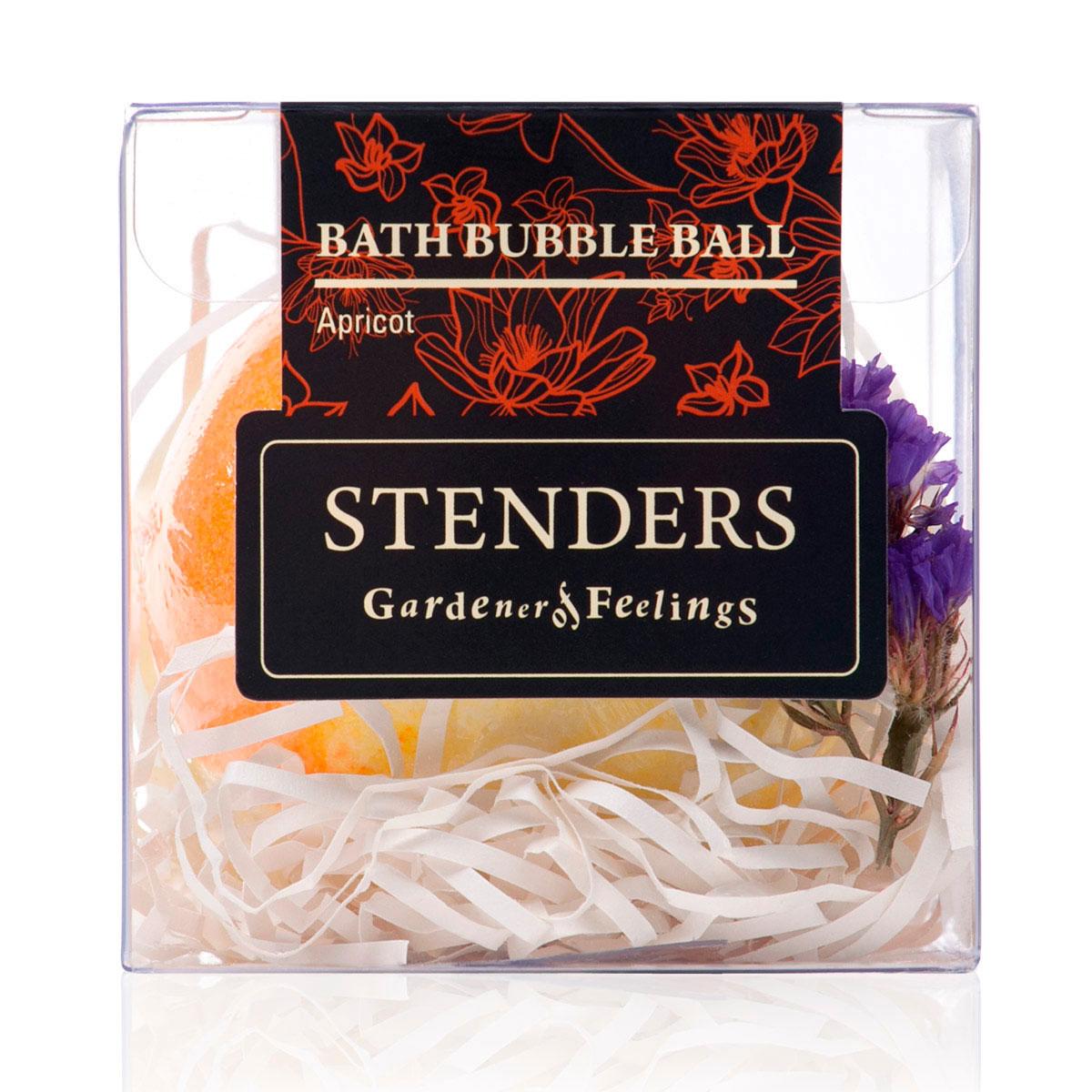 Stenders Бурлящий шар Абрикосовый, 125 гSISBB01Ваши любимые бурлящие шары, упакованные в красивую коробку - готовы удивлять и радовать. Этот изготовленный умелыми руками бурлящий шар для ванны наполнит помещение запахом сладкого абрикоса и ощущением солнечного лета. Для того чтобы позаботиться о вашей коже во время купания, мы добавили в этот шар натуральные кристаллы морской соли. После купания ощутите, какой нежной и гладкой сделало вашу кожу масло виноградных косточек. Масло виноградных косточек особенно хорошо тем, что содержит ненасыщенные жирные кислоты в большой концентрации. Оно придаст жизненную силу вашей коже, тщательно увлажняя и смягчая ее. Кристаллы соли моря богаты ионами кальция, калия и натрия. Эти вещества очистят вашу кожу и укрепят ногти. Релаксирующая ванна с солью помогает регулировать уровень влаги в клетках, устраняя припухлость и снимая усталость.
