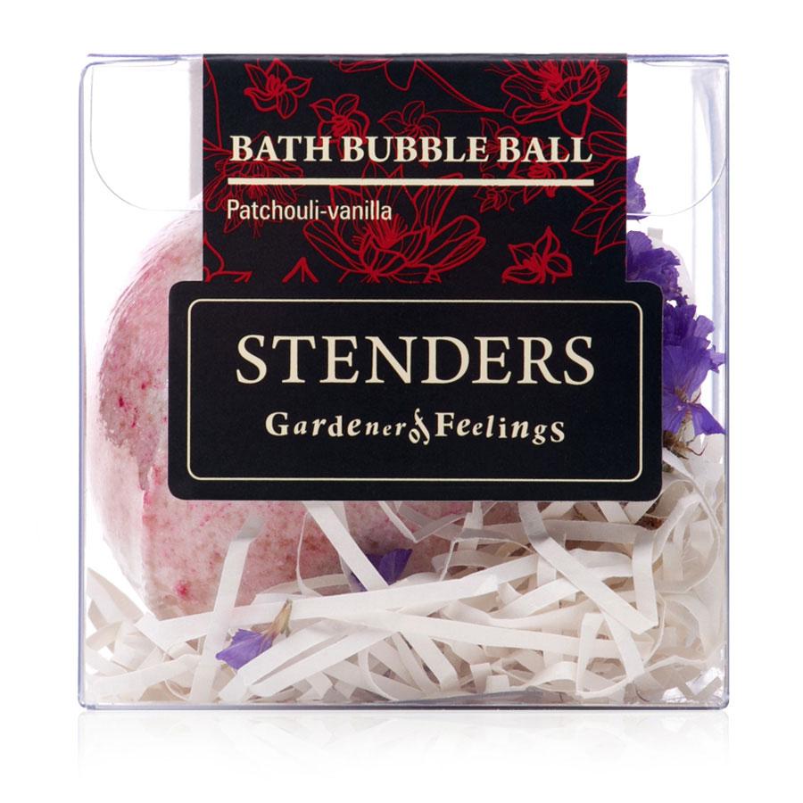Stenders Бурлящий шар Пачули-ванильный, 125 гSISBB05Ваши любимые бурлящие шары, упакованные в красивую коробку - готовы удивлять и радовать.. Этот изготовленный заботливыми руками бурлящий шар для ванны наполнит помещение букетом экзотических и сладких ароматов. Пока вы будете отдыхать, натуральная морская соль очистит и взбодрит вашу кожу, а масло виноградных косточек подарит ей особую мягкость и гладкость. Ощутите, как пикантный аромат эфирного масла пачули особенным образом подчеркнет вашу женственность. Эфирное масло пачули получают путем пропаривания листьев растения. Насыщенный и исключительно устойчивый аромат масла - пикантное, сладковатое сочетание запаха земли и древесины. Оно прекрасно поможет справиться с беспокойством и стрессом, а также высвободит в вас чувственность, настраивая на романтику. Масло виноградных косточек особенно хорошо тем, что содержит ненасыщенные жирные кислоты в большой концентрации. Оно придаст жизненную силу вашей коже, тщательно увлажняя и смягчая ее. Кристаллы соли моря богаты ионами кальция,...