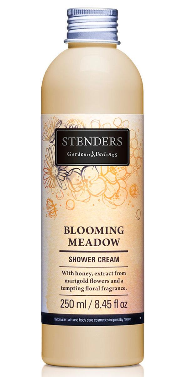 Stenders Крем для душа Blooming meadow (Блумин Медоу), 250 млSCF_BMДобавьте частичку лета в вашу ванную комнату вместе с нашим ароматным кремом для душа. Крем, обогащенный медом и экстрактом цветов календулы, бережно очистит вашу кожу при помощи роскошной воздушной пены. Почувствуйте, как соблазнительно-сладкий цветочный аромат раскрывается на вашей коже ярким букетом цветов - нотками жасмина, иланг-иланга, гардении, ландыша и апельсина. Дикорастущая календула произрастает в Южной Азии, но своими ярко-оранжевыми, похожими на маргаритки, цветами она украшает и короткое северное лето. Благодаря своим противовоспалительным и бактерицидным свойствам экстракт календулы позволяет расцвести красоте вашей кожи.