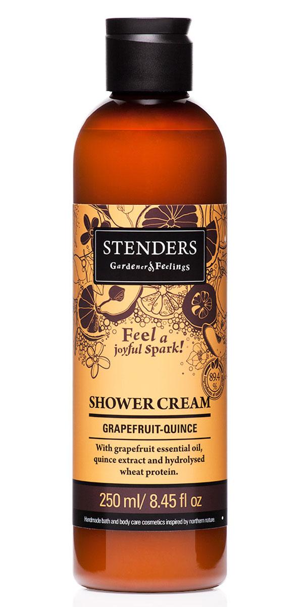 Stenders Крем для душа Грейпфруто-Цидониевый, 250 млSCGQНежный крем для душа, наполненный бодрящим ароматом, мягко очистит вашу кожу, даря ей гладкость и аромат. Для заботы о красоте кожи мы добавили в крем грейпфрутовое эфирное масло, экстракт цидонии и гидролизованный протеин пшеницы. Насладитесь мгновениями, наполненными энергией, когда вас окутает воздушная пена и сочный фруктовый аромат. Пшеница столетиями служила людям в качестве ценного полезного источника питания. Протеинам, входящим в ее состав, присущи свойства, которые позволяют использовать их для заботы о вашей красоте и хорошем самочувствии. Протеины пшеницы естественным образом смягчают вашу кожу и укрепляют волосы. Кроме того, они обеспечивают увлажнение и придают ощущение исключительной гладкости.