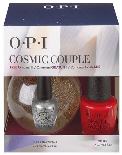 OPI Набор лаков Cosmic Couple NLL72 15 мл, HRG 43 3.75 мл+новогодний шарик OPI