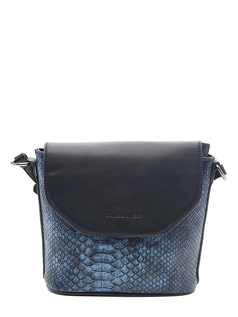 Сумка кросс-боди женская David Jones, цвет: черный, синий. 4019-24019-2 D/BLUEСтильная женская сумка David Jones выполнена из высококачественной искусственной кожи с тиснением под рептилию. Модель имеет одно отделение, которое закрывается на застежку- молнию. Внутри находится прорезной карман на застежке-молнии и накладной открытый карман. Закрывается изделие на клапан с магнитной кнопкой. Изделие оснащено плечевым ремнем, который регулируется по длине. В комплект входит фирменная текстильная сумка для хранения. Такая сумка позволит вам подчеркнуть свою индивидуальность, и сделает ваш образ изысканным и завершенным.