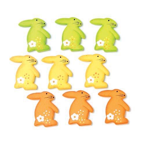 Набор декоративных элементов Hobby Time Кролики, 3 х 2,5 см, 9 шт7705330Набор Hobby Time Кролики состоит из 9 декоративных элементов, выполненных из дерева. Такой набор может пригодиться в оформлении предметов интерьера, подарков, открыток, цветочных букетов, а также в скрапбукинге. Необычные декоративные элементы добавят индивидуальности вашей творческой работе.