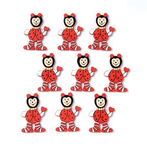 Набор декоративных элементов Hobby Time Божьи коровки, 3,5 х 2,3 см, 9 шт7705332Набор Hobby Time Божьи коровки состоит из 9 декоративных элементов, выполненных из дерева. Такой набор может пригодиться в оформлении предметов интерьера, подарков, открыток, цветочных букетов, а также в скрапбукинге. Необычные декоративные элементы добавят индивидуальности вашей творческой работе.