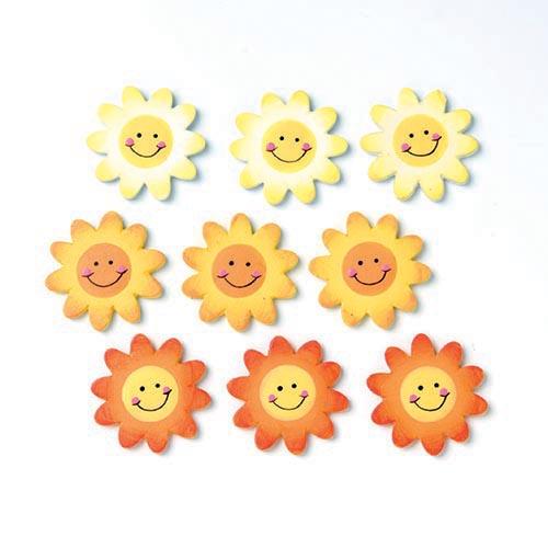 Набор декоративных элементов Hobby Time Подсолнухи, 2,1 х 2,1 см, 9 шт7705334Набор Hobby Time Подсолнухи состоит из 9 декоративных элементов, выполненных из дерева. Такой набор может пригодиться в оформлении предметов интерьера, подарков, открыток, цветочных букетов, а также в скрапбукинге. Необычные декоративные элементы добавят индивидуальности вашей творческой работе.