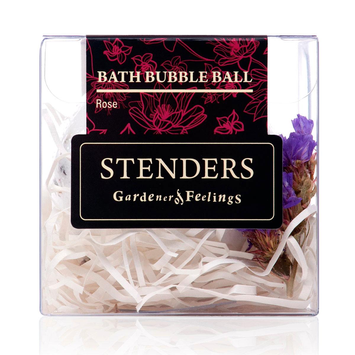 Stenders Бурлящий шар Розовый, 125 гSISBB06Ваши любимые бурлящие шары, упакованные в красивую коробку - готовы удивлять и радовать. Этот изготовленный умелыми руками бурлящий шар для ванны наполнит помещение волнующим сердце королевским ароматом роз. Пока вы будете наслаждаться расслабленным отдыхом, о вашей коже позаботятся содержащиеся в шарике кристаллы соли и масло виноградных косточек. А в ванне распустятся изысканные лепестки розы, вдохновляя вас на романтические мгновения для двоих. Масло виноградных косточек особенно хорошо тем, что содержит ненасыщенные жирные кислоты в большой концентрации. Оно придаст жизненную силу вашей коже, тщательно увлажняя и смягчая ее. Кристаллы соли моря богаты ионами кальция, калия и натрия. Эти вещества очистят вашу кожу и укрепят ногти. Релаксирующая ванна с солью помогает регулировать уровень влаги в клетках, устраняя припухлость и снимая усталость.