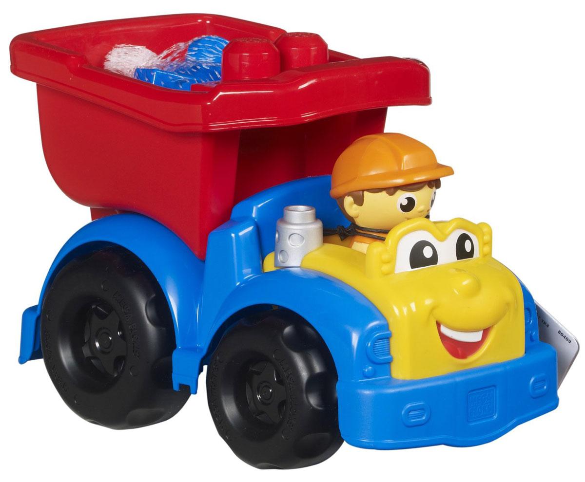 Mega Bloks First Builders Конструктор Самосвал ДиланаCND62_CND82Конструктор Mega Bloks Самосвал Дилана приятно порадует вашего малыша. Машинка выполнена в ярких красочных цветах, у Дилана забавное личико с веселой улыбкой и большие глаза. Кузов грузовика откидывается, его можно загрузить шестью входящими в комплект блоками или же отправить Дилана на поиски другого полезного груза. Веселый водитель, который будет рад любой работе. Грузовик и детали имеют крупный размер и форму, удобную для детских ручек. Они легко соединяются и разъединяются. Набор совместим с другими наборами серии First Builders. Ваш ребенок часами будет играть с набором, придумывая разные истории.