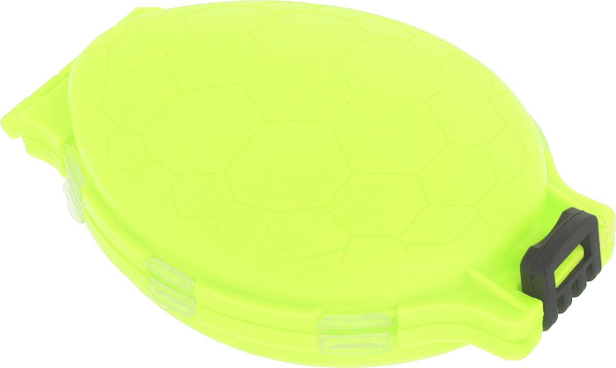 Органайзер для мелочей, двухсторонний, цвет: салатовый, 11 см х 7,5 см х 2,5 см679530/8952430_салатовыйУдобная пластиковая коробка Три кита Черепашка прекрасно подойдет для хранения и транспортировки различных мелочей. Коробка имеет 12 фиксированных секций, закрывающихся на крышки. Удобный и надежный замок-защелка обеспечивает надежное закрывание коробки. Такая коробка поможет держать вещи в порядке. Средний размер секции: 3 см х 3 см.