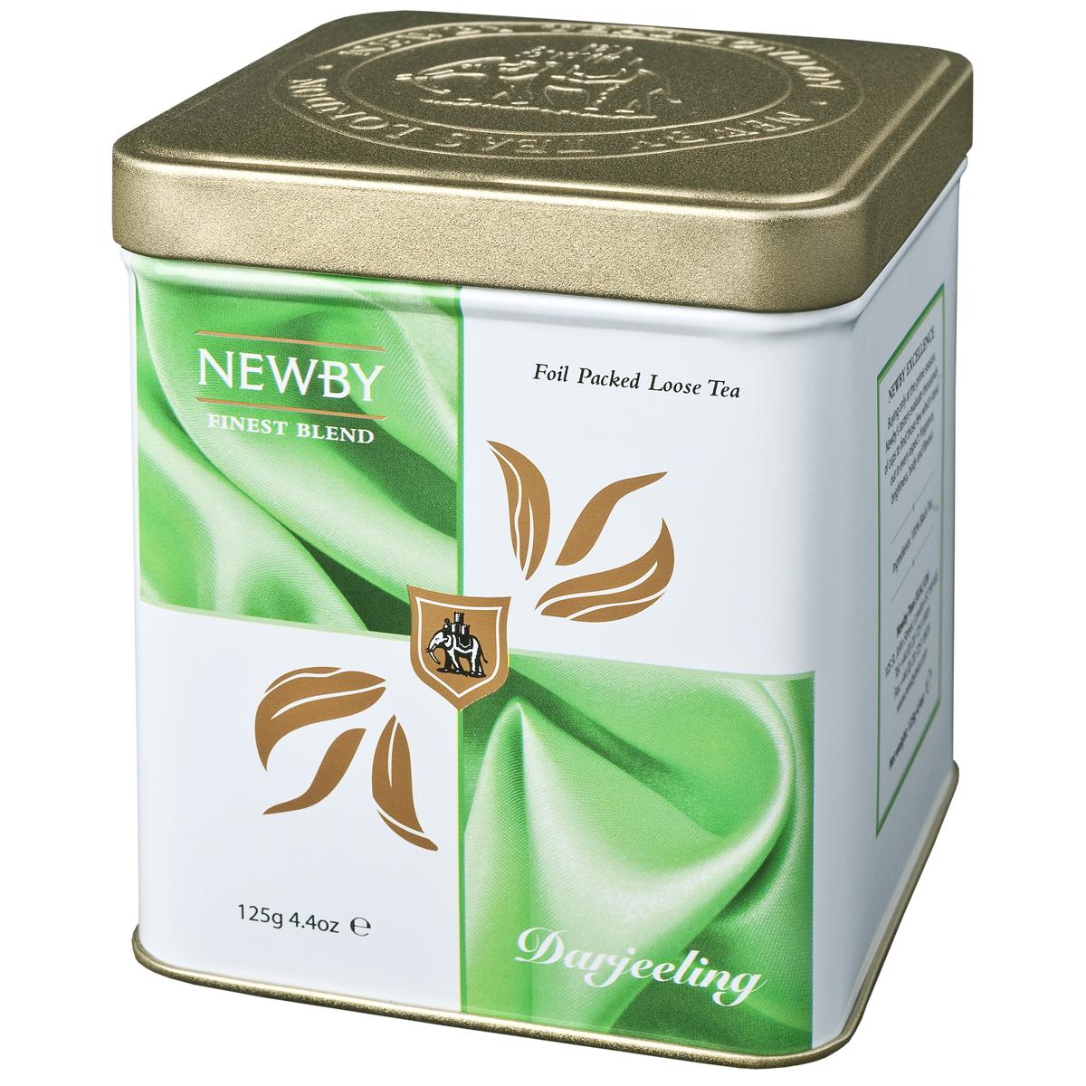 Newby Darjeeling черный листовой чай, 125 г130020Чай Newby Darjeeling получил название шампанского среди чаев. Серебристые типсы с зеленоватыми листьями, светло-янтарный настой, цветочный аромат и немного вяжущий мускатный привкус.