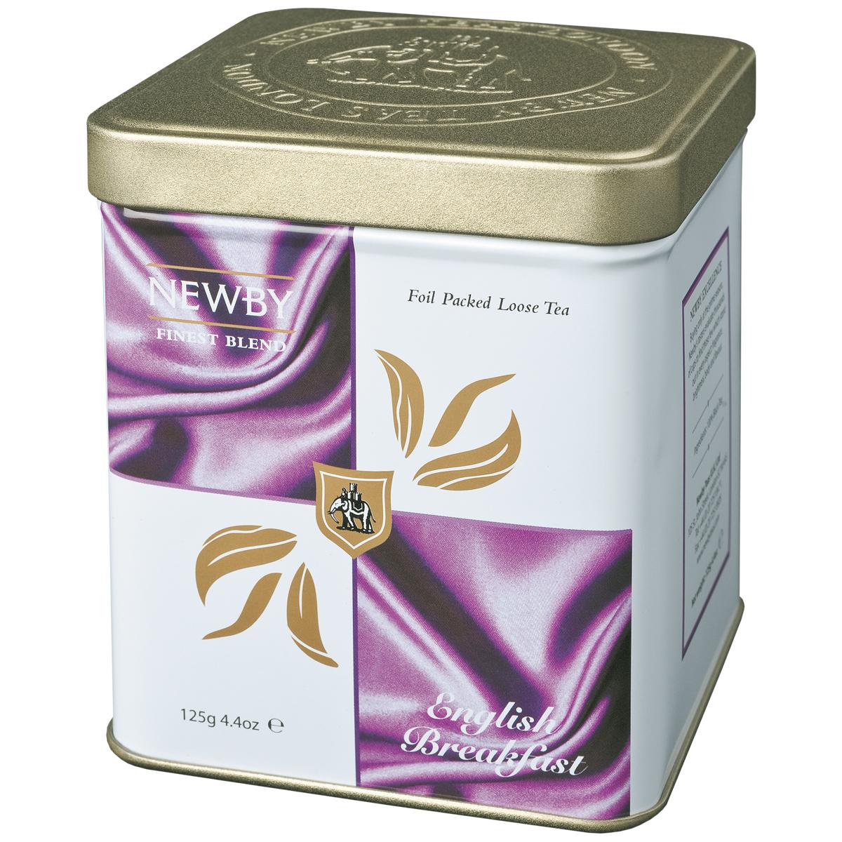 Newby English Breakfast черный листовой чай, 125 г130050Newby English Breakfast - популярная смесь черных сортов чая из Ассама, Цейлона и Кении. Сбалансированный терпкий солодовый вкус с приятными цитрусовыми и пряными нотками. Чашка крепкого чая насыщенного янтарного цвета и богатого вкуса идеальна для начала дня.