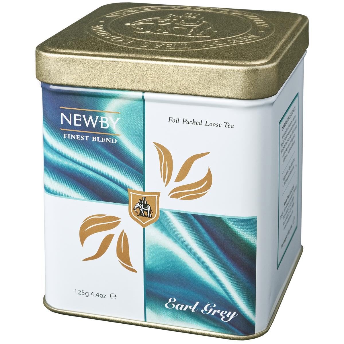 Newby Earl Grey черный листовой чай, 125 г130060Насыщенный черный чай Newby Earl Grey с натуральным ароматом и цитрусовым вкусом спелого бергамота.