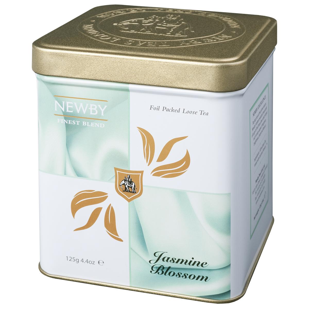 Newby Jasmine Blossom зеленый листовой чай, 125 г130090Китайский листовой чай Newby Jasmine Blossom с ароматом цветов жасмина. Имеет светло-медовый оттенок и ароматное цветочное послевкусие.