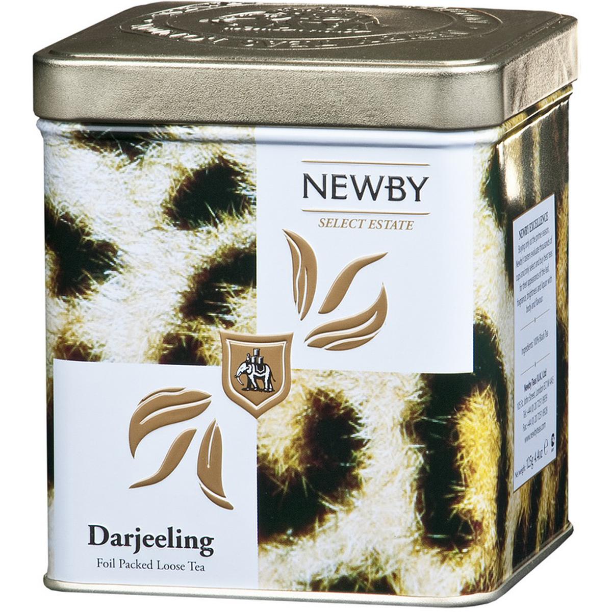 Newby Darjeeling Safari черный листовой чай, 125 г132020Чай Newby Darjeeling Safari получил название шампанского среди чаев. Серебристые типсы с зеленоватыми листьями, светло-янтарный настой, цветочный аромат и немного вяжущий мускатный привкус.